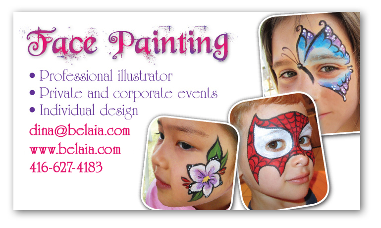 Business Card Template Painter Beautiful Or Scary That Is The Attraction Of
